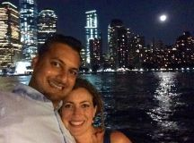 Me, Ayaz and a Supermoon over NYC. Bliss!
