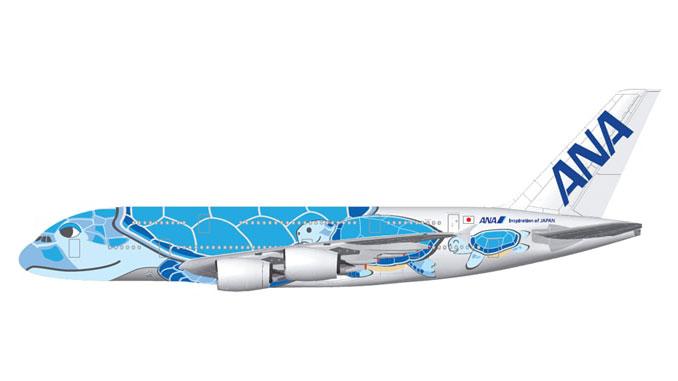 ANA A380 Flying Honu livery