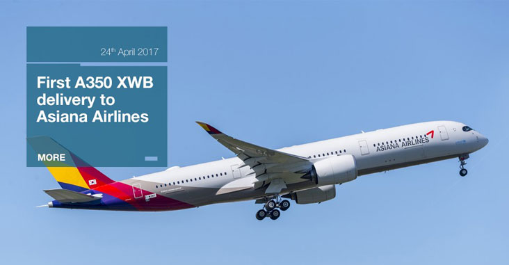 Asiana gets its first A350