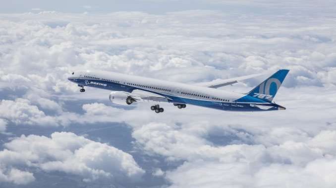 Boeing 787-10 completes its first flight
