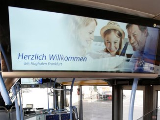 Free Wi-Fi and Information Monitors on apron buses at FRA
