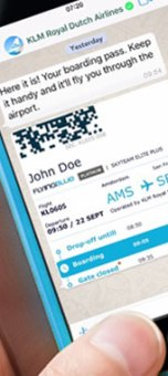 KLM trials official WhatsApp Business application