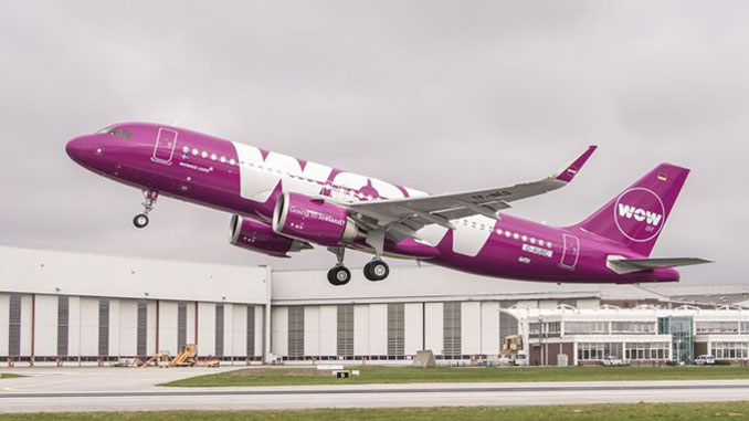 WOW air has taken delivery of its fist Airbus A320neo