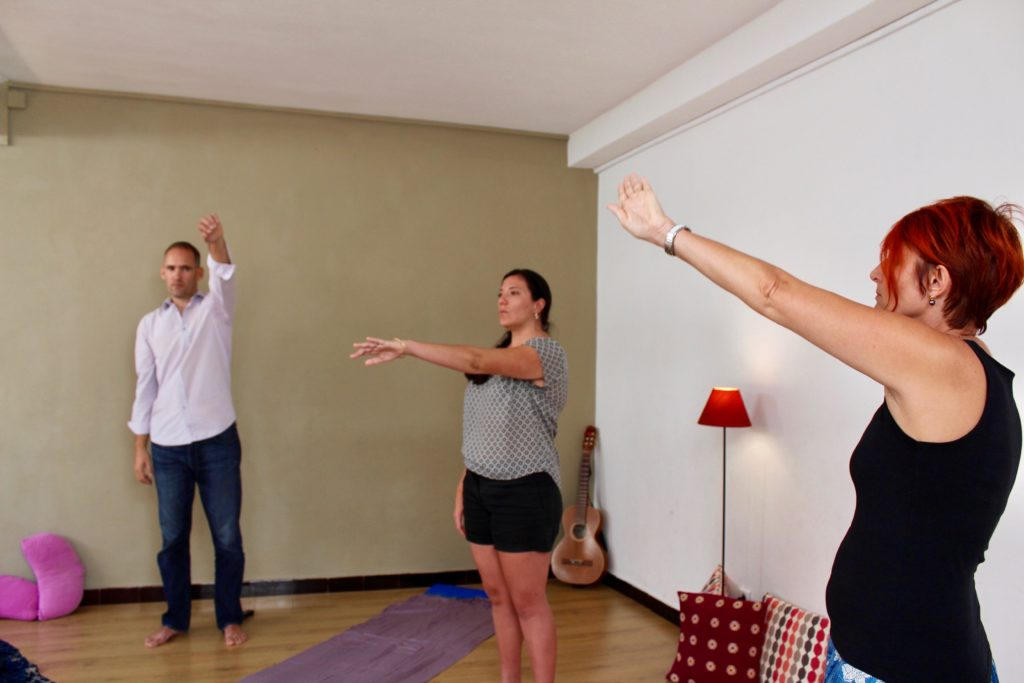 sophrologie relaxation dynamique exercice éventails