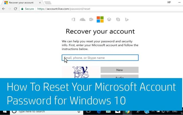 reset your windows laptop password