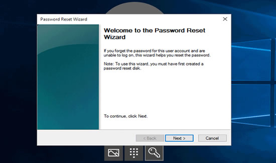Laptop password reset disk