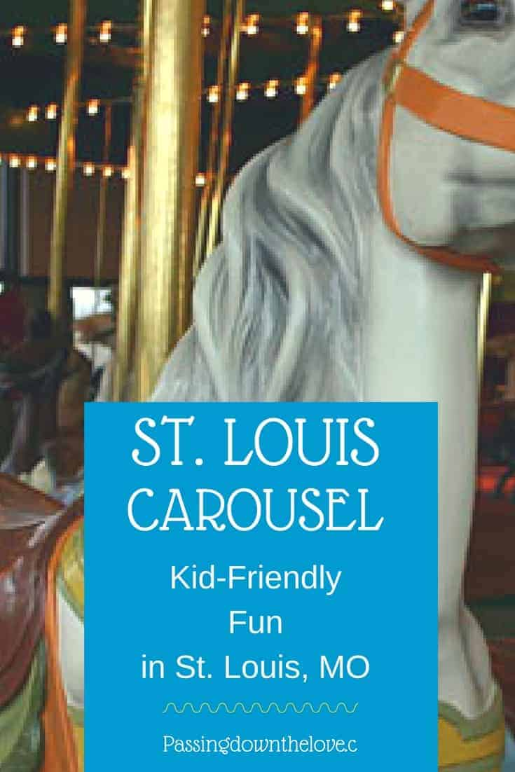 Making Memories with Kids in St. Louis, MO.  Enjoy the St. Louis Carousel in Faust Park.  One of the fun things to do with kids in St. Louis, MO.