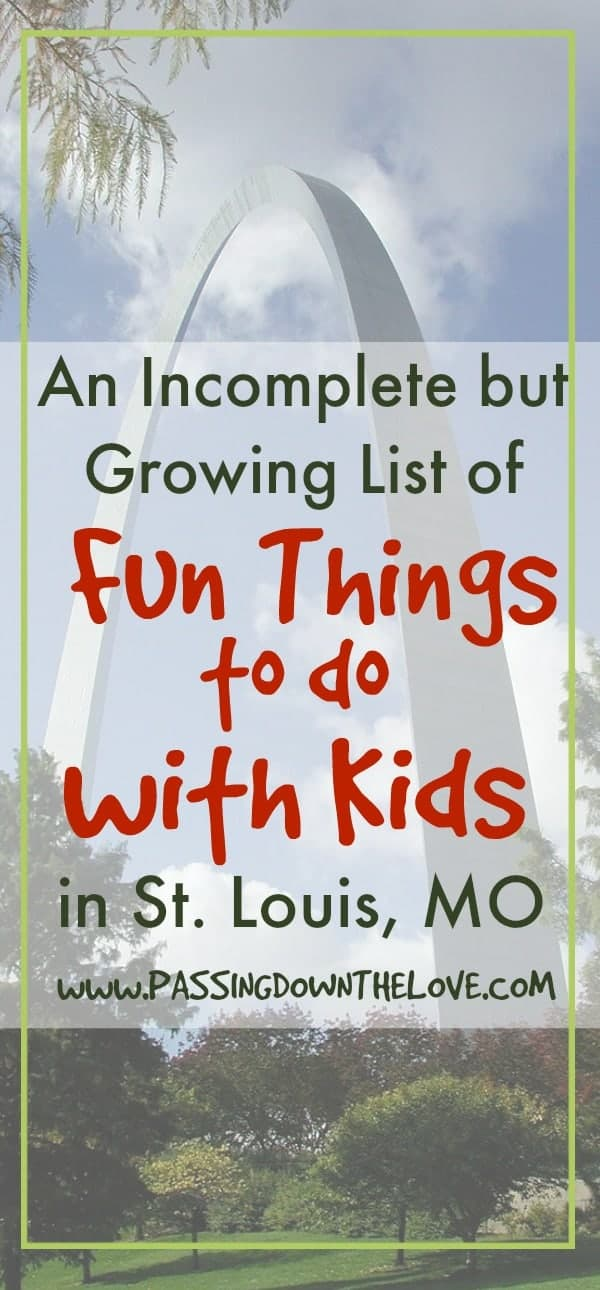 We are searching for fun things to do with kids in St. Louis, MO.  As we discover new places, we are sharing them with you.  Stop by often for new ideas!
