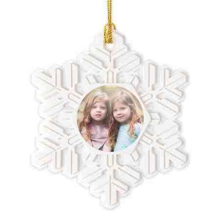Gift for new Grandma snowflake Christmas ornament