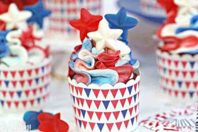 Red-white-and-blue-cupcakes Patriotic dessert