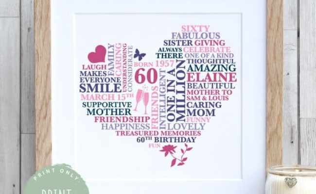 Unique 60th Birthday Gift Ideas For Her She Ll Love 60th