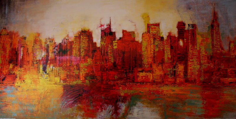 Brian Carter  Abstract New York City Riproduzione