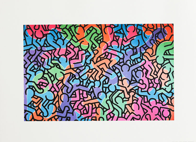 keith haring poster figures 1985 40