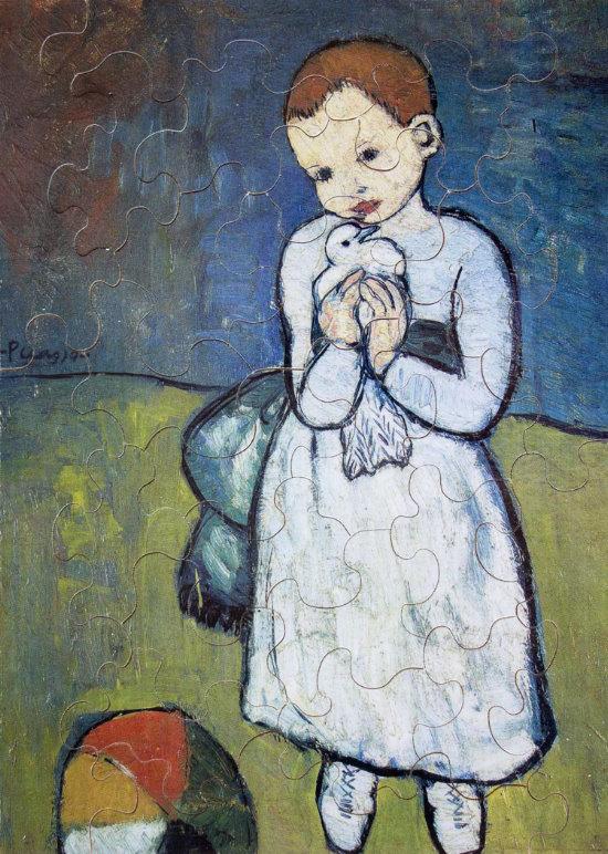 Puzzle Pablo Picasso  Bambino con una colomba Michle