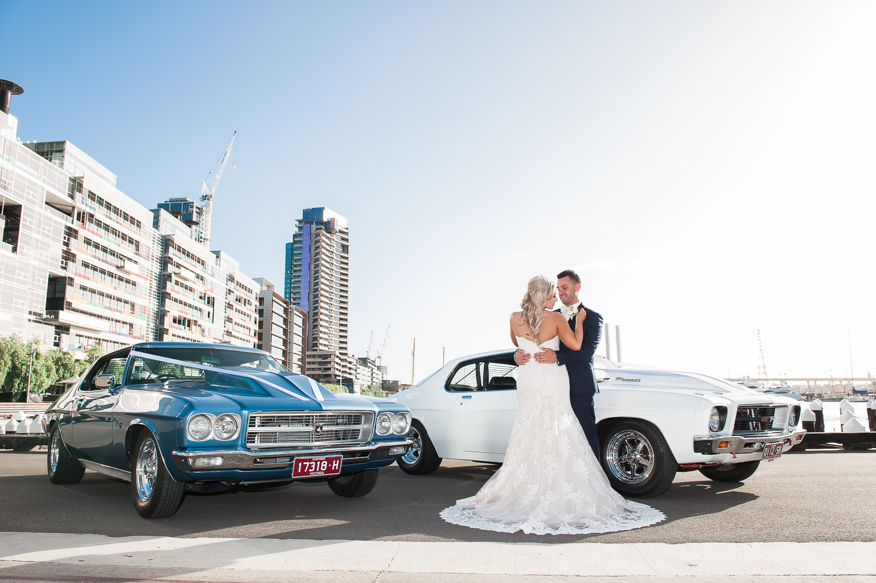 Wedding cars at Docklands Magic Cruise