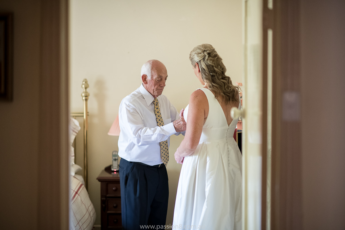bride and dad