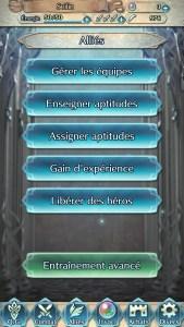 Fire Emblem Heroes accueil alliés