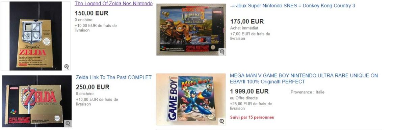 Le prix des jeux rétro