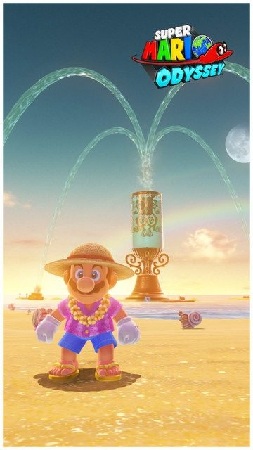Super Mario Odyssey - pays de la mer 15