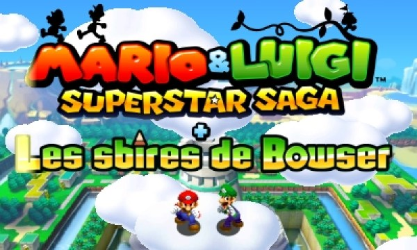 Mario et Luigi Superstar Saga - ecran titre