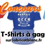Concours T-shirt Abricot Blanc