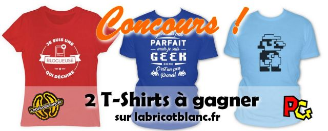 Concours T-shirt Abricot Blanc