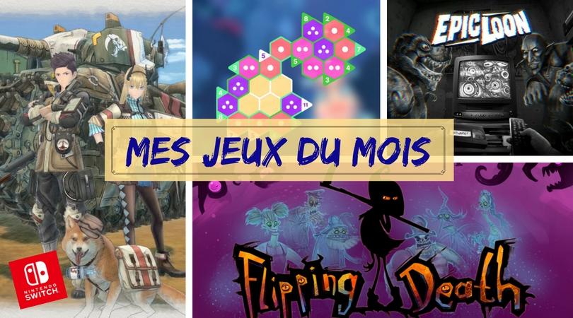 Bilan jeux aout 2018