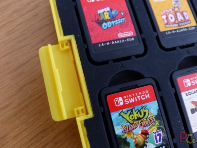 Boitier de rangement pour jeux Switch - système de fermeture du boîtier