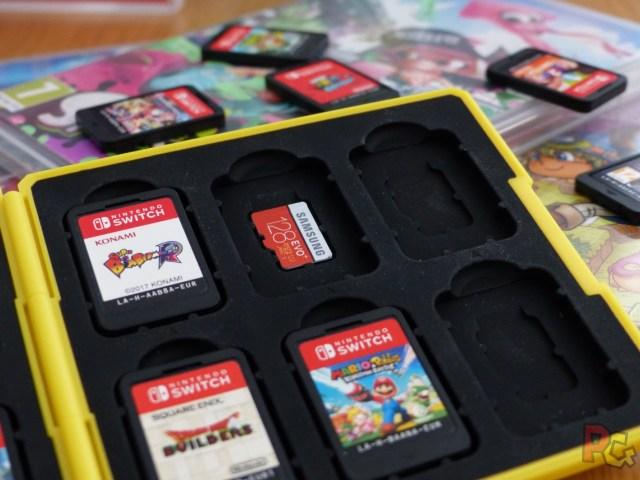 Boitier de rangement pour jeux Switch - emplacement pour microSD