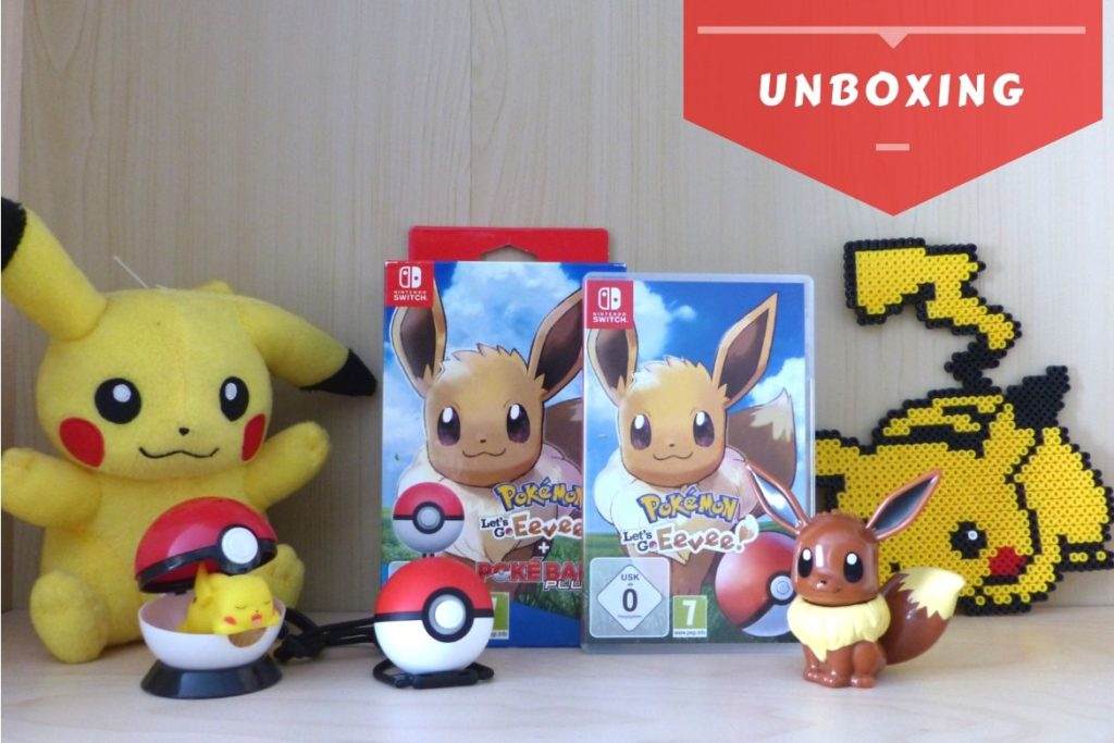 Bannière unboxing Pokemon Lets Go Evoli