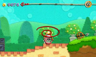 Kirby au fil de la Grande Aventure 3DS - kirby pelote