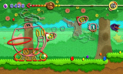 Kirby au fil de la Grande Aventure 3DS - transformation