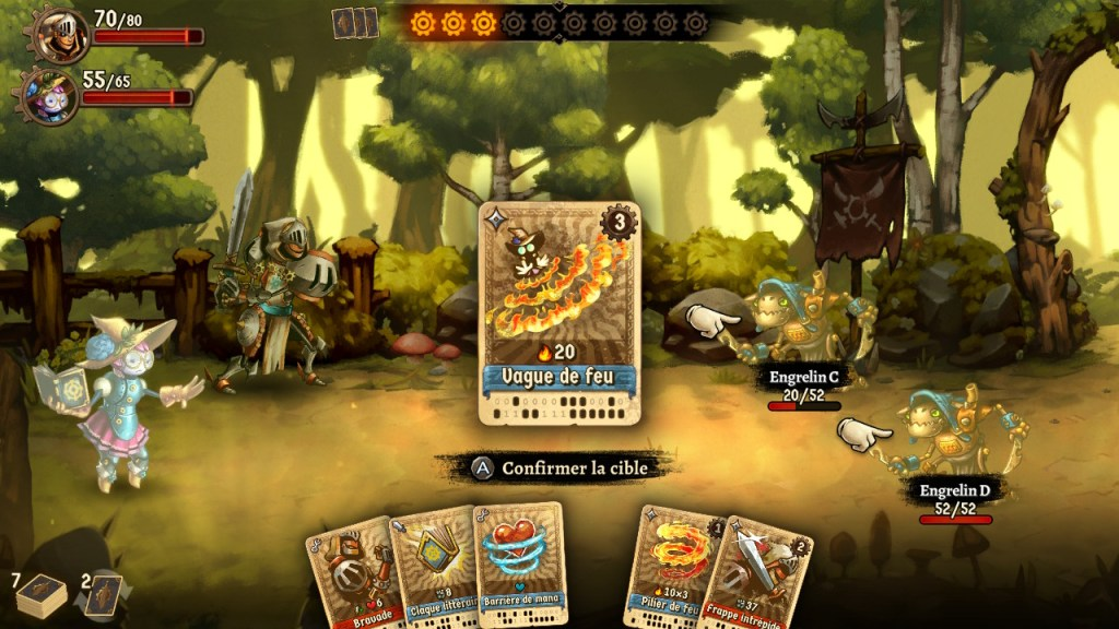 SteamWorld Quest - carte avec cout