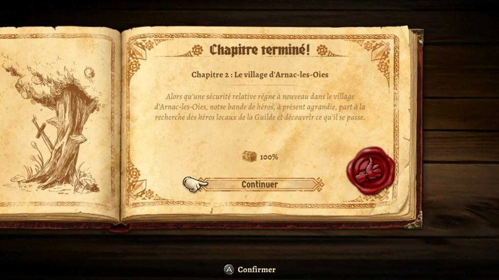 SteamWorld Quest - chapitre terminé