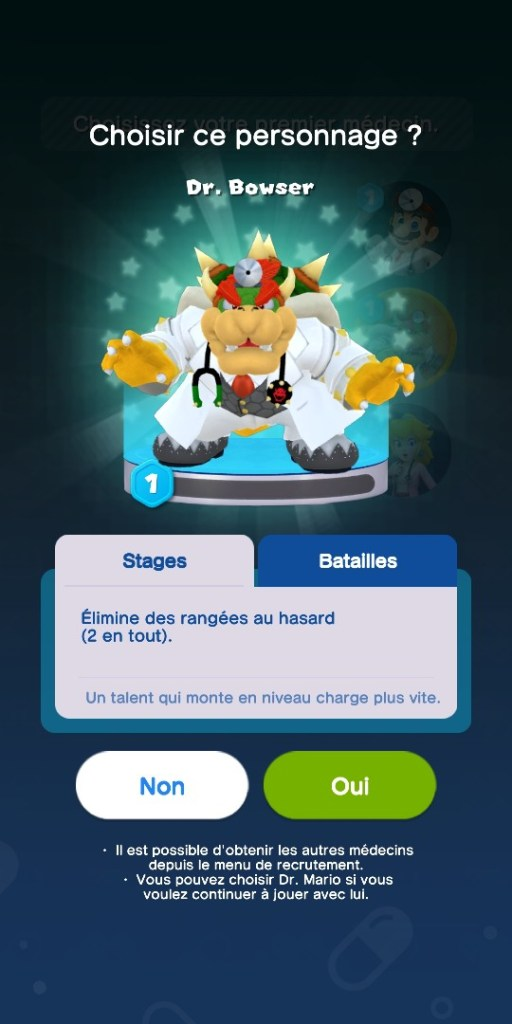 Dr Mario World - docteur bowser talent
