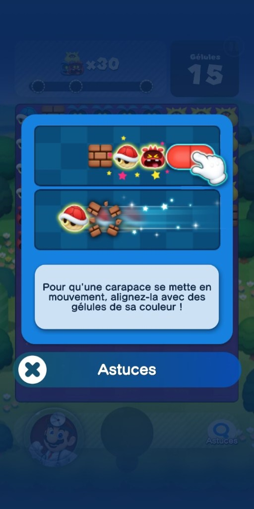 Dr Mario World - tutoriel carapaces