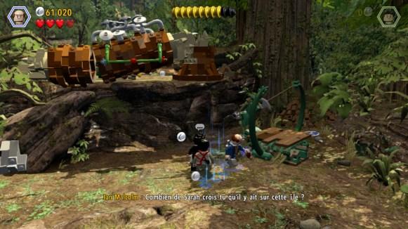 Lego Jurassic World - dialogue phare