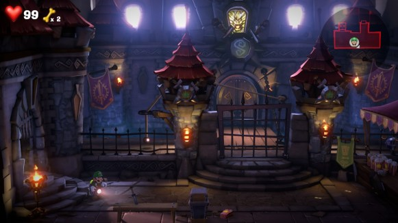 Luigis Mansion 3 - chambre medievale
