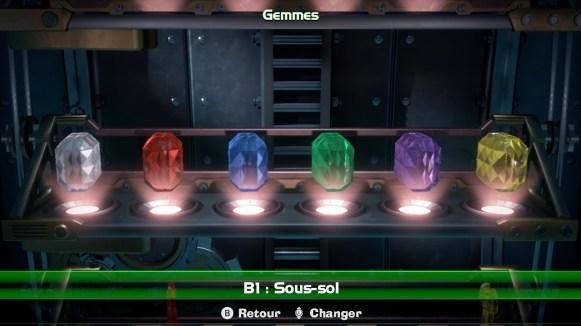 Luigis Mansion 3 - galerie gemmes