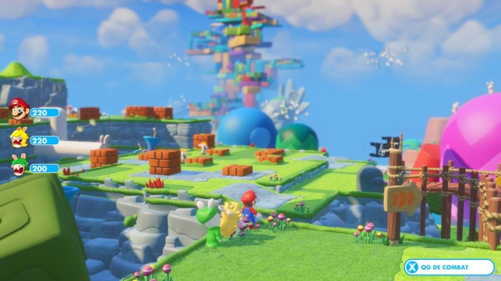 Mario + Lapins Cretins - monde 1