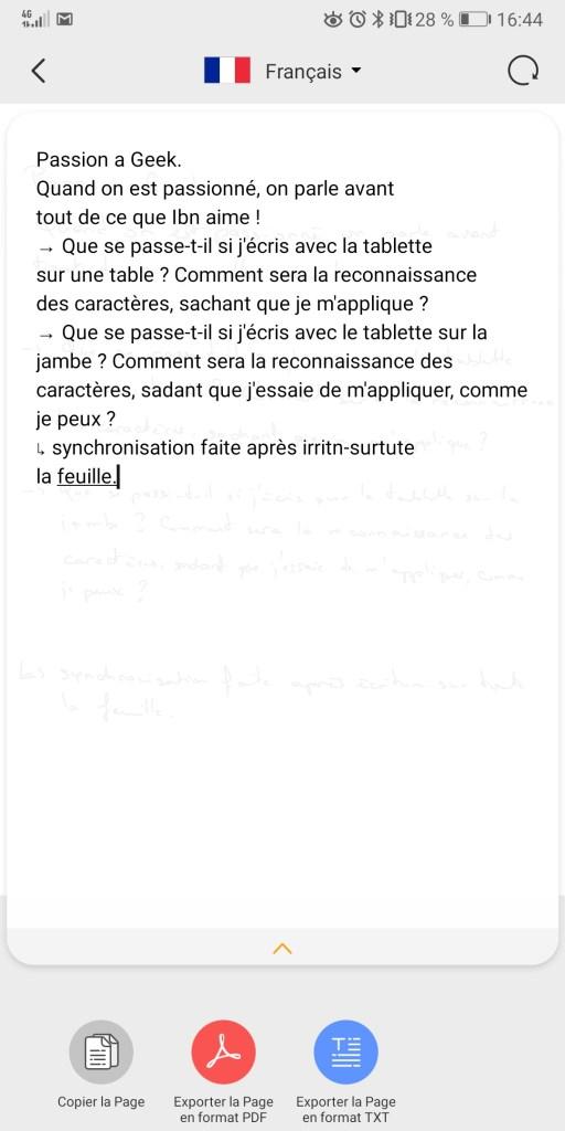RoWrite - conversion du texte