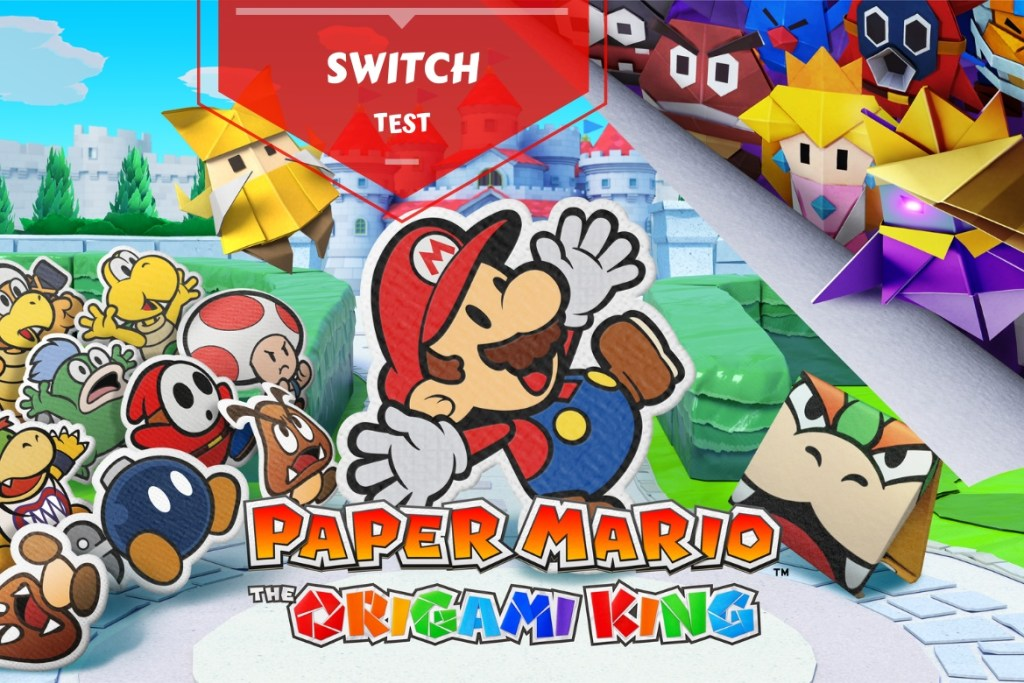 Paper Mario The Origami King - bannière test