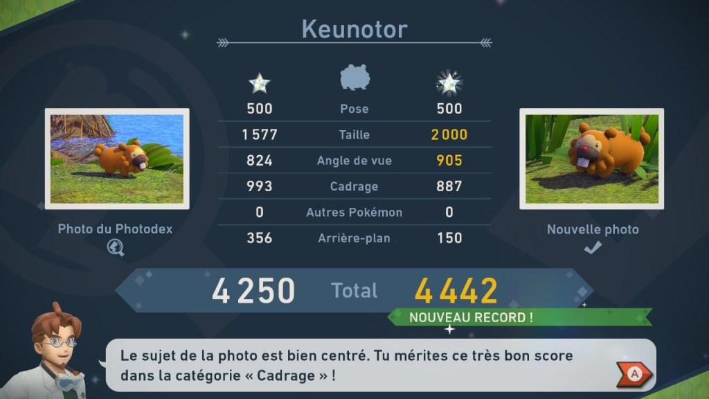 New Pokemon Snap - Score Keunotor