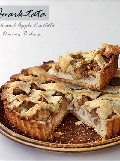 Baking| QUARK-TATA … Daring Bakers Crostata with Quark & Apples {& petit fours too}!
