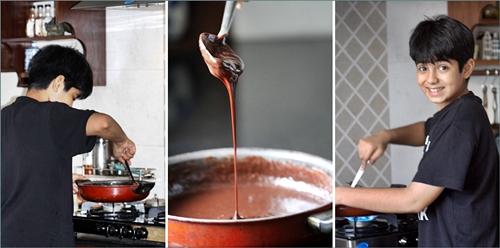 Rohan makes chocolate walnut fudge