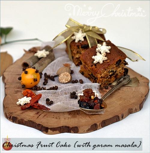 Christmas Fruit Cake {with garam masala}