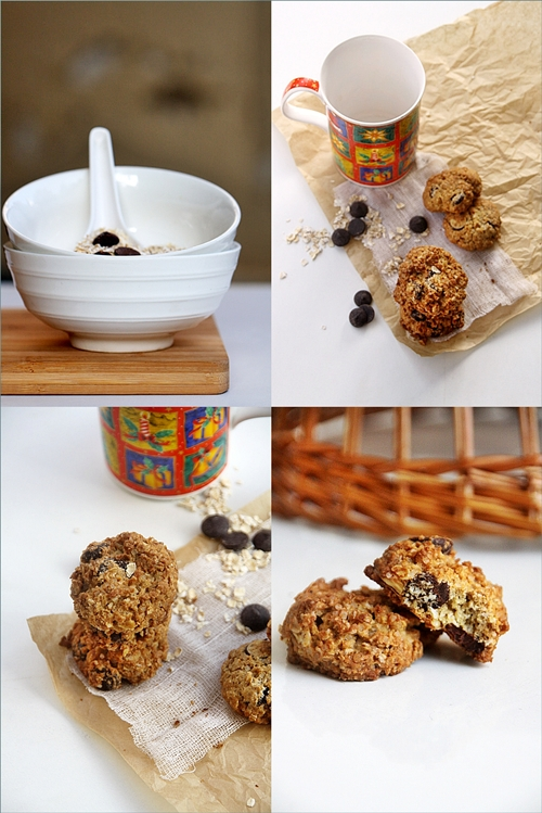Whole Wheat & Oat Chocolate Chip Cookies