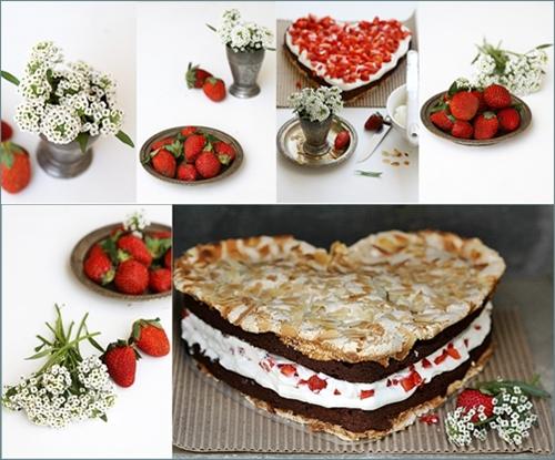Nigella Strawberry Meringue Layer Cake