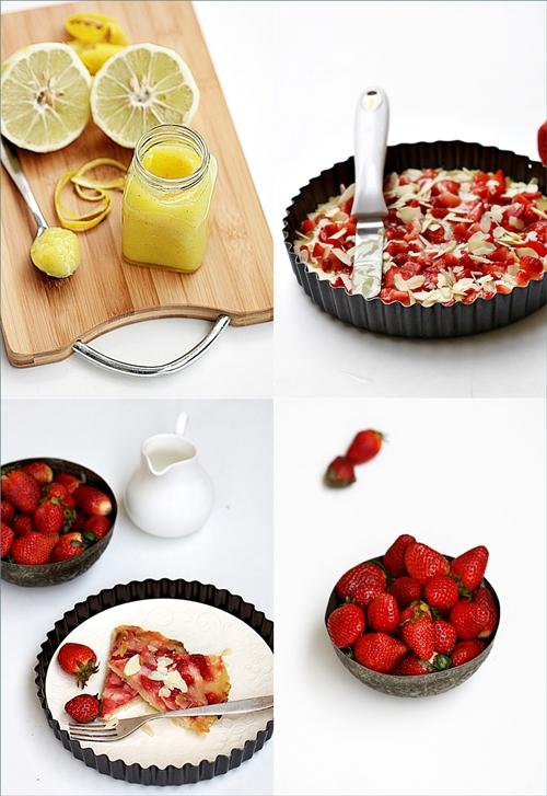 Baking| Strawberry & Lemon Curd Shortbread