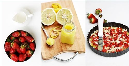 Strawberry Lemon Curd Shortbread